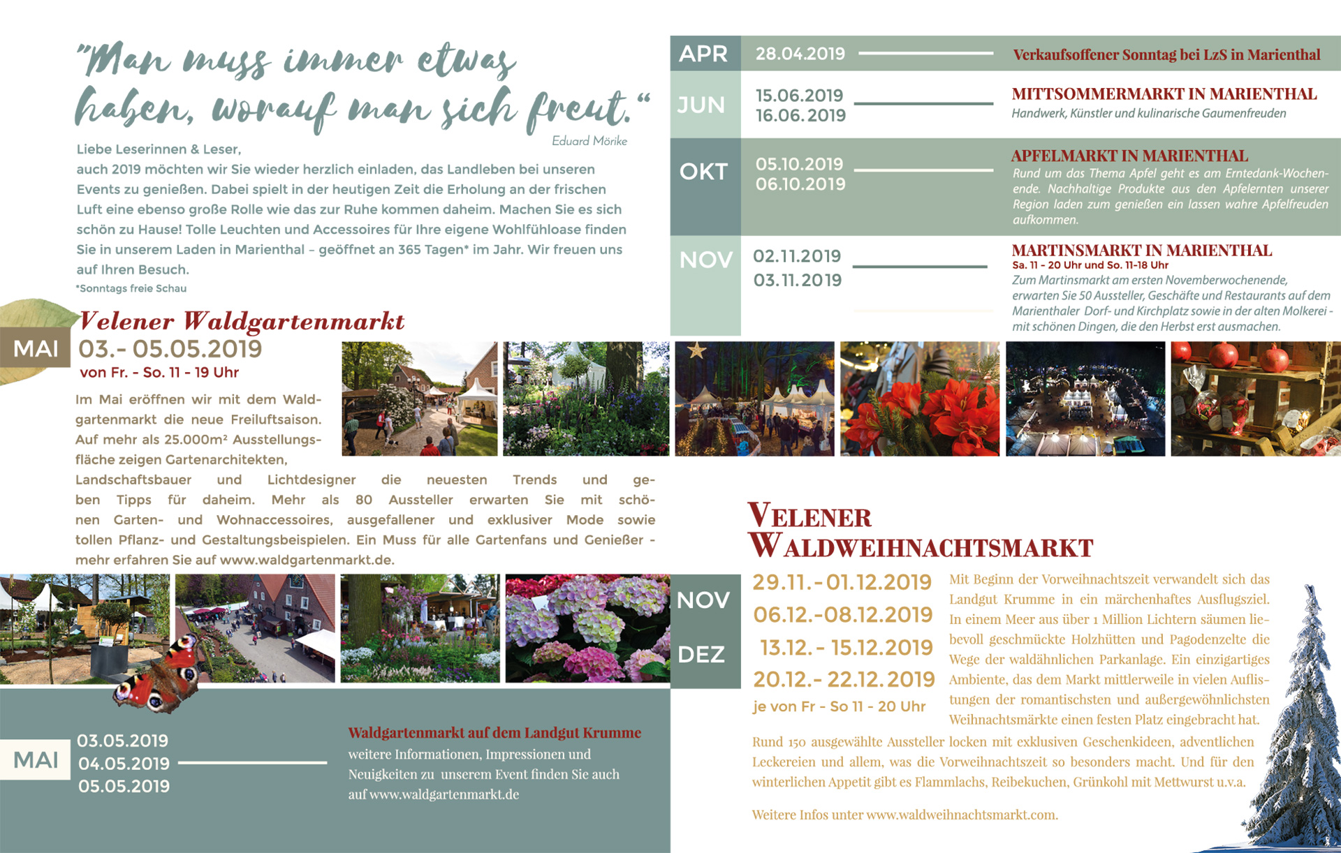 Eventflyer Landgut Krumme 2019
