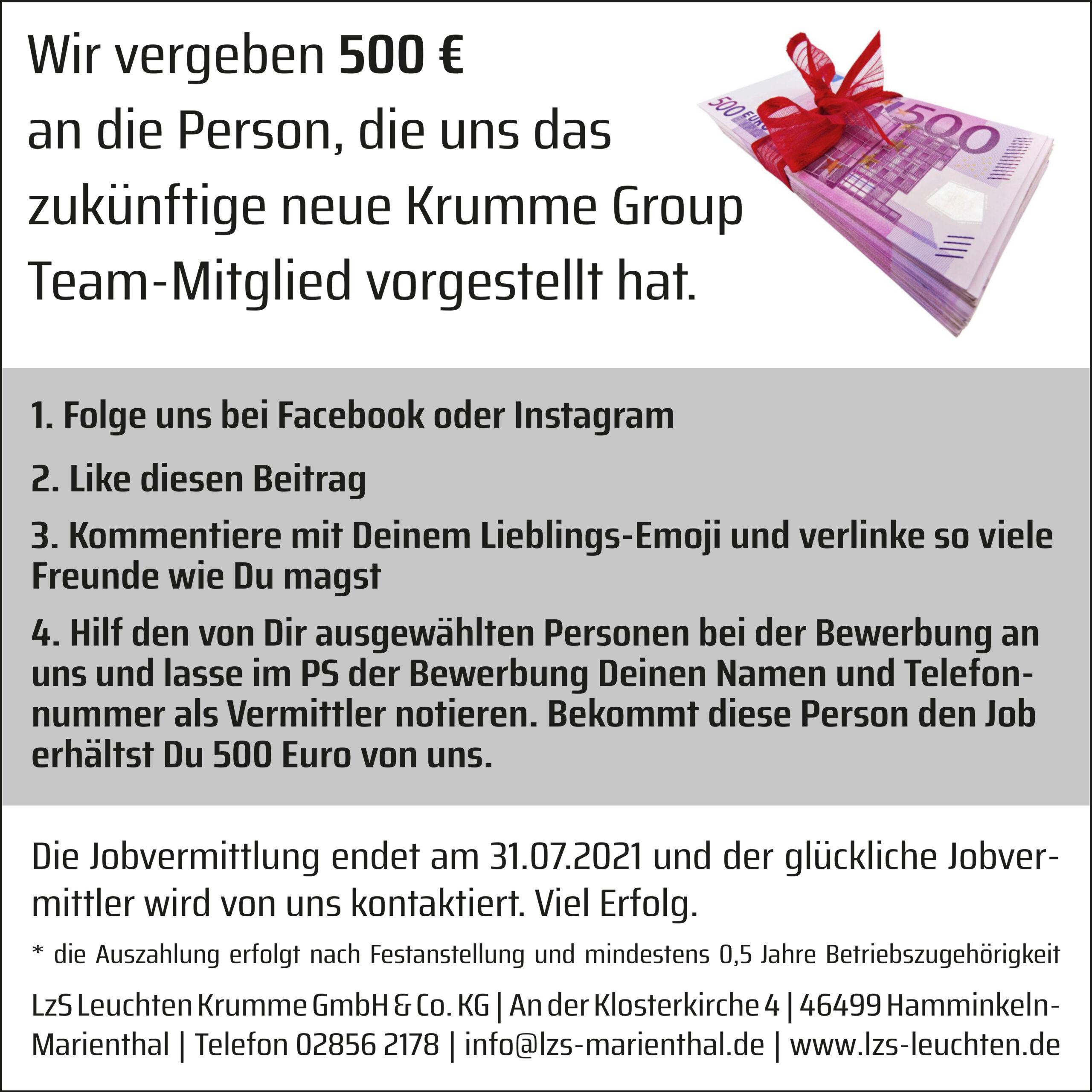 Krumme Group – Job vermitteln Bedingungen